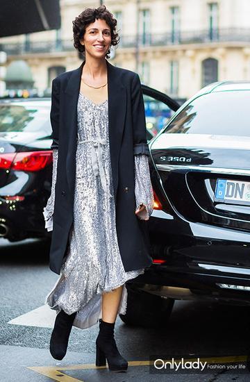 长款外套+裙子