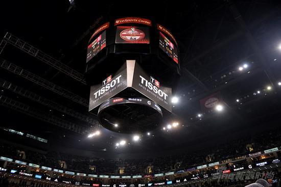 天梭表倾力助阵NBA国际赛北京站比赛