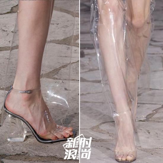 Loewe秀场里的透明长靴