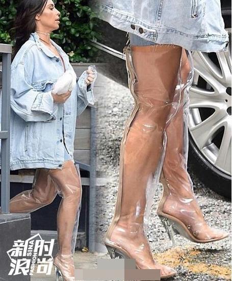 卡戴珊穿透明鞋