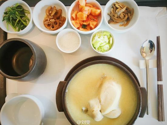刘雯的晚餐