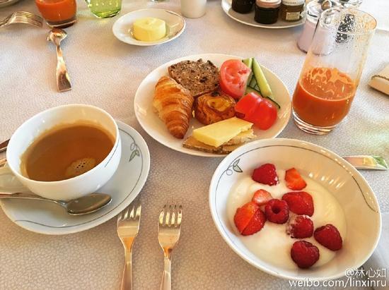林心如的早餐