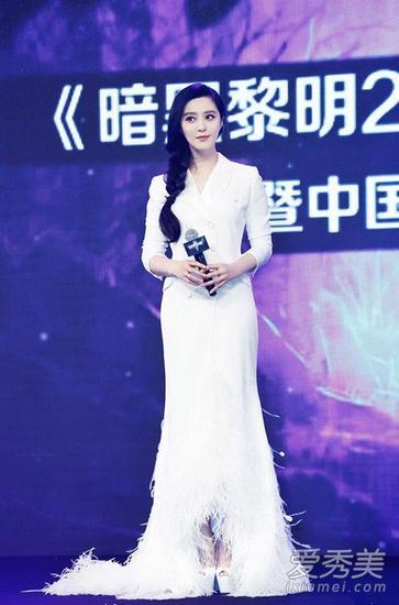 白色长袖长裙