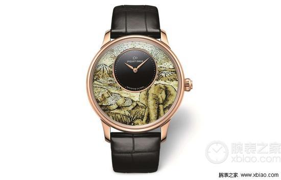 雅克德罗艺术工坊系列大象时分小针盘腕表