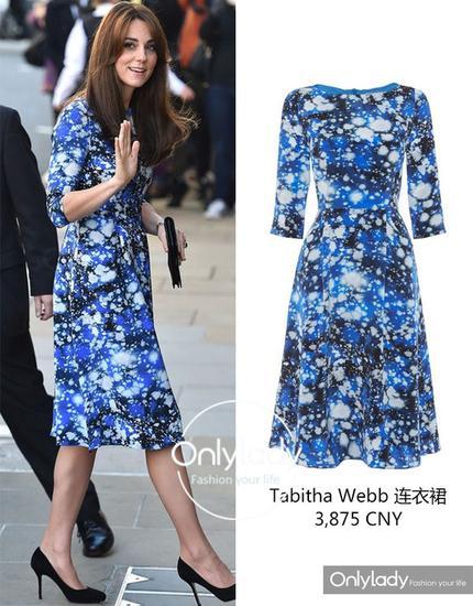 蓝色的印花裙