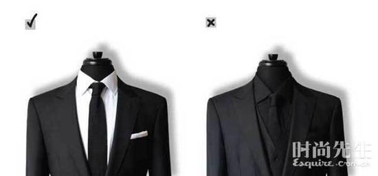 避开全黑套装