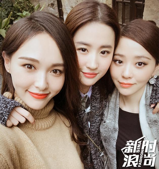 刘亦菲和唐嫣、张靓颖自拍