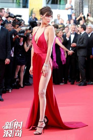 Bella Hadid红毯照