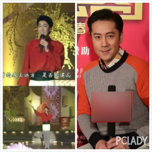 左图是1991年蔡老师23岁的小鲜肉时期,右图是2016年春晚48岁的蔡国庆老师