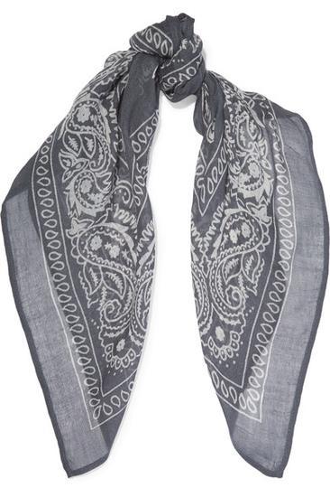 印花巴里纱围巾