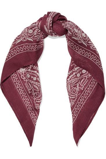印花巴里纱围巾1