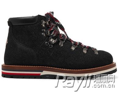纹理皮革踝靴