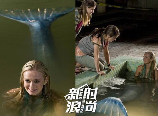 克莱尔和海莉偶然在泳池遇到美人鱼