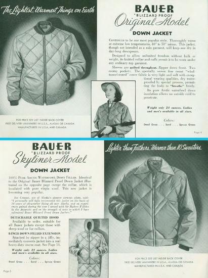 Bauer为羽绒服注册专利