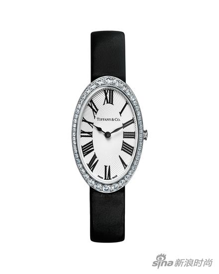 Tiffany & Co.蒂芙尼Tiffany Cocktail 18k白金镶钻腕表