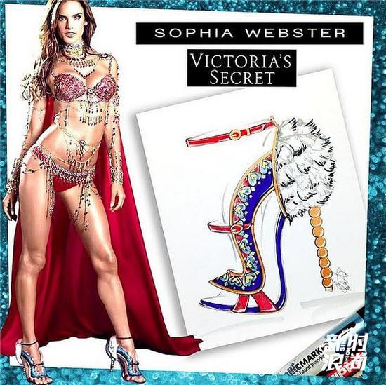 Alessandra Ambrosio穿Sophia Webster(图片来源POPSUGAR)