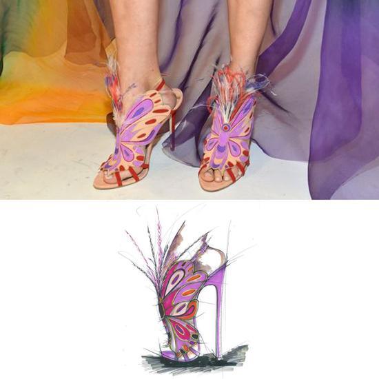 2015年维秘的Brian Atwood鞋子