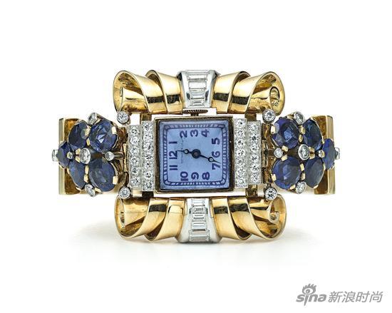 1939年,蒂芙尼为纽约世界博览会打造的鸡尾酒腕表,与当场最璀璨的钻石争奇斗艳