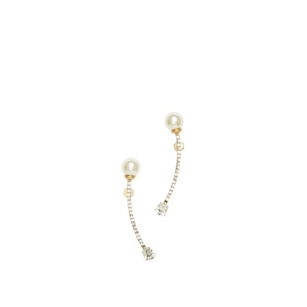 O.Yang白水晶珍珠拱桥型耳环
