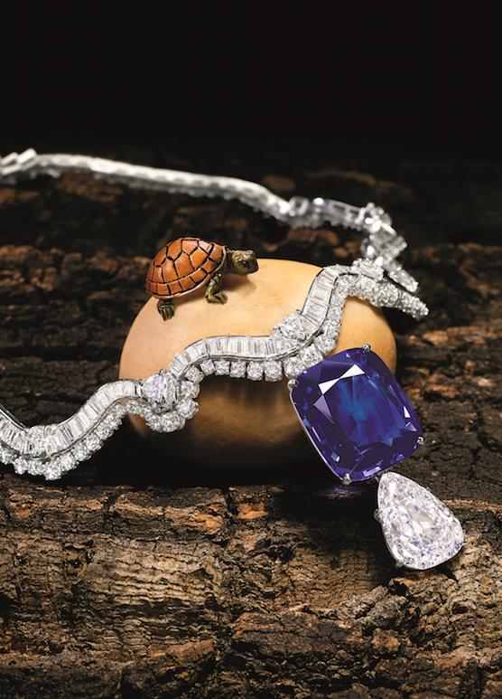 卡地亚42.42克拉蓝宝石项链