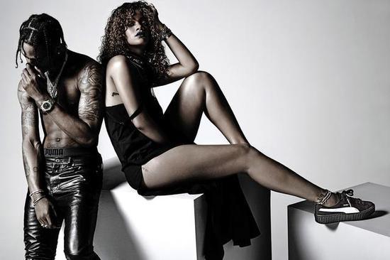 蕾哈娜亲自出镜Puma广告大片