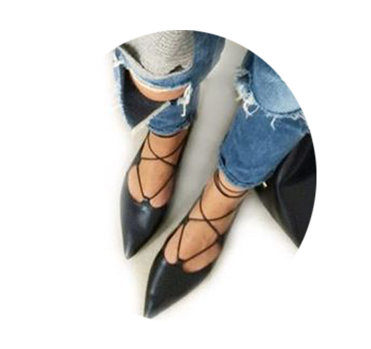 Aquazzura绑带鞋