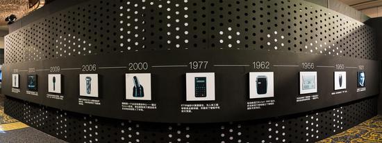 展示区博朗历史墙