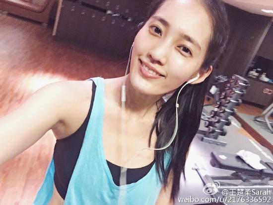Sarah王棠云健身照