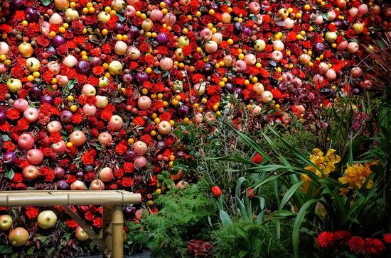 果蔬园艺新年祈福墙