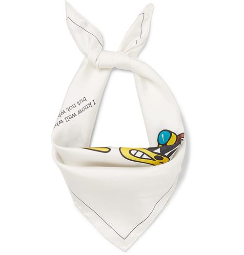白色丝质领巾