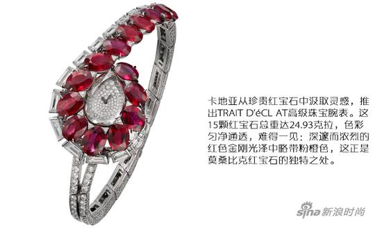 卡地亚TRAIT D'éCLAT高级珠宝腕表