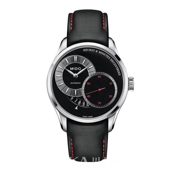 """瑞士美度表Belluna布鲁纳系列""""时分偏芯""""全自动机械腕表"""