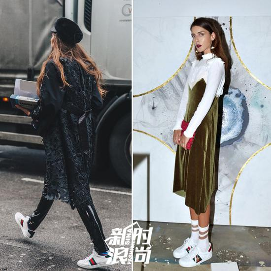 Gucci运动鞋街拍