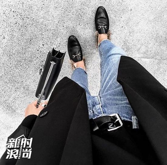 Gucci毛拖鞋