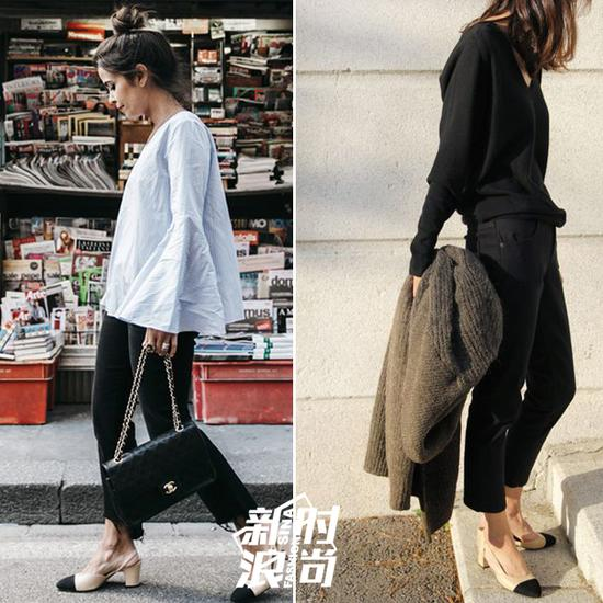 Chanel双色鞋