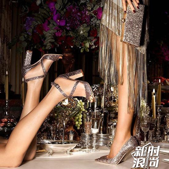 Jimmy Choo水钻高跟鞋