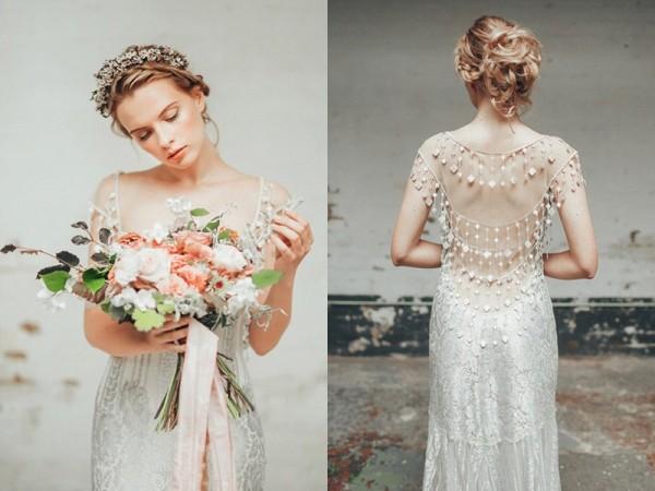 珠宝钻石元素的婚纱
