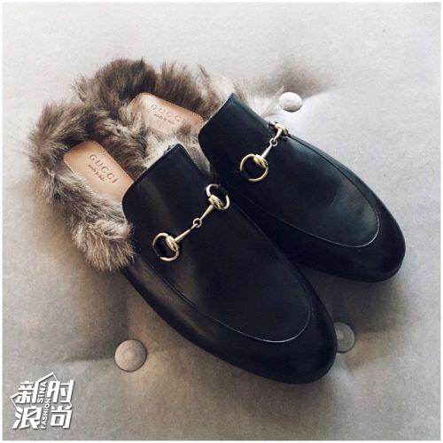 Gucci爆款毛拖鞋