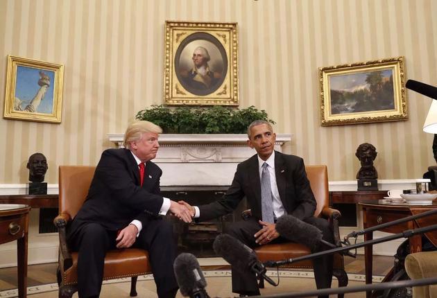 特朗普与奥巴马商讨权力交接