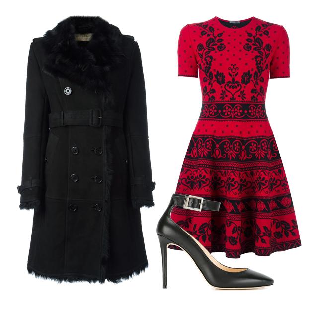 红色裙装搭配推荐