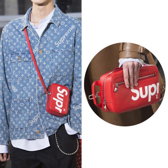 Louis Vuitton和Supreme的合作款挎包兼手拿包