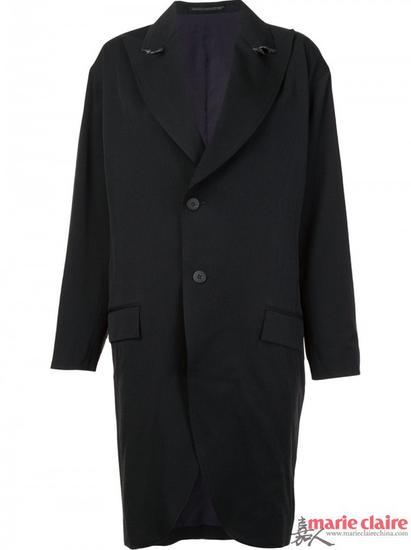 YOHJI YAMAMOTO长款披肩领外套