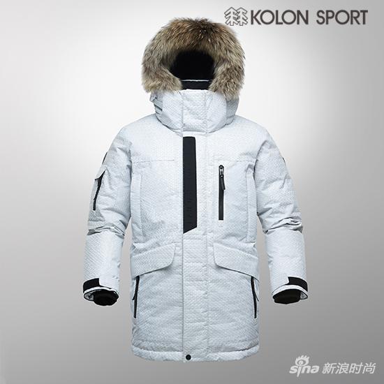KOLON SPORT限量款白色Antarctica羽绒服