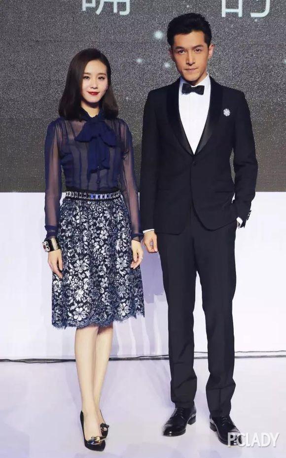 胡歌与刘诗诗参加颁奖礼