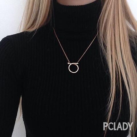 高领X长项链