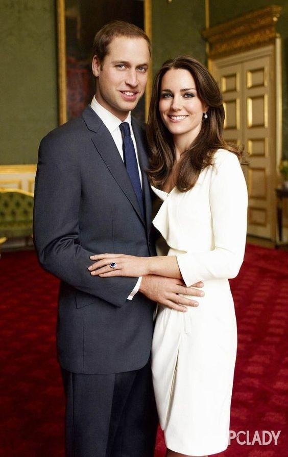 凯特王妃与威廉王子的订婚照