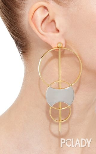 金属几何简约耳环