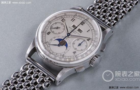 百达翡丽创下史上最贵手表拍卖纪录的钢壳1518,以11002000瑞郎(约人民币7500万元)的价格成交。