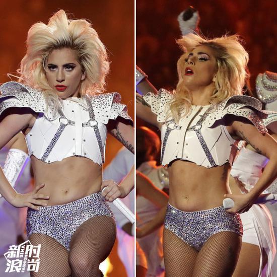 """Gaga的腹部""""赘肉"""""""