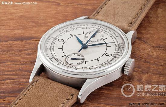 百达翡丽之前创造拍卖纪录的钢壳130计时表。